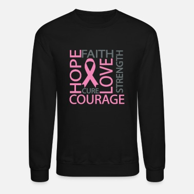Brain Breast Cancer Awareness T-Shirt - Crewneck Sweatshirt