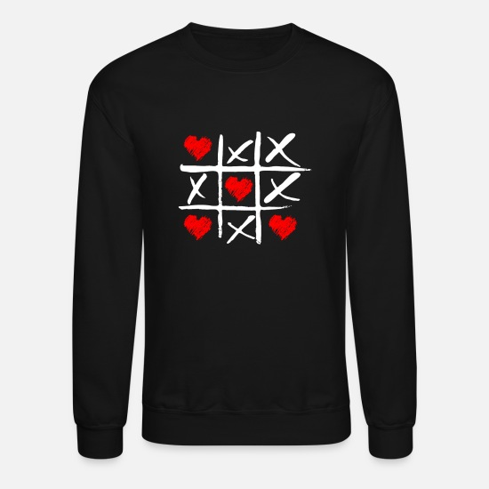 Birthday Hoodies & Sweatshirts - Tic tac toe love gift - Unisex Crewneck Sweatshirt black