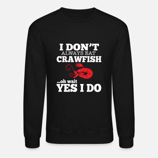 Squirting Hoodies & Sweatshirts - Crawfish lobster - Unisex Crewneck Sweatshirt black