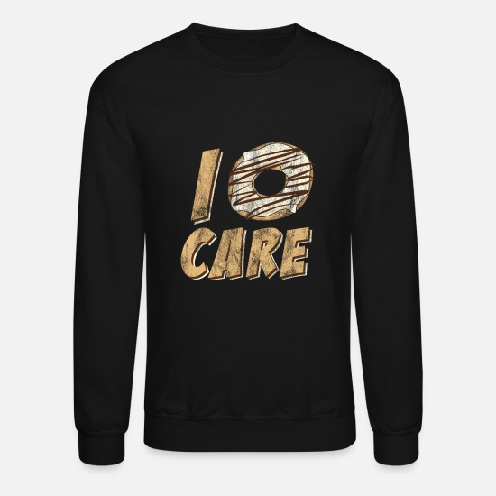 Gift Idea Hoodies & Sweatshirts - Donut care desserts - Unisex Crewneck Sweatshirt black