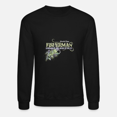 Fishing Motivational Fishing Colorful Fisherman Angler T S - Unisex Crewneck Sweatshirt