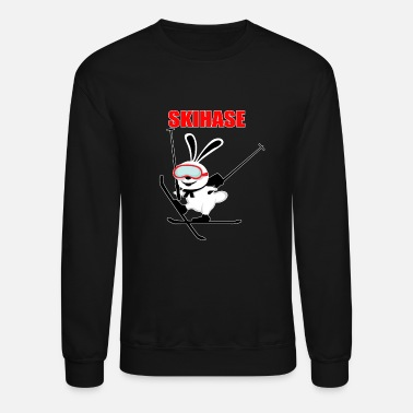 Snowboard ski rabbit skiing snow ice holiday joke present - Unisex Crewneck Sweatshirt