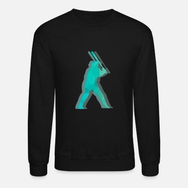 Baseball Player Baseball player hit baseball - Unisex Crewneck Sweatshirt