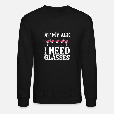 Clever At My Age I Need Glasses - Unisex Crewneck Sweatshirt