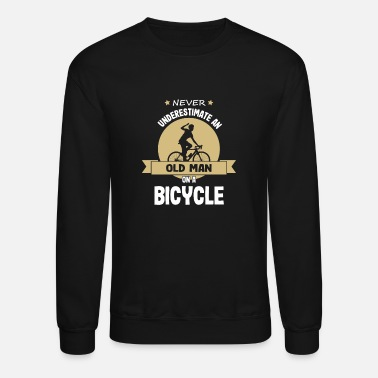 Bicycling Cycling Old Guy Biking Bicycle Bike - Unisex Crewneck Sweatshirt