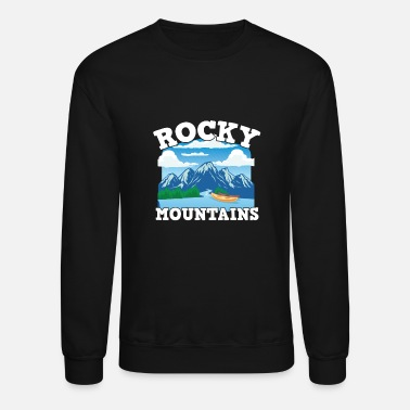 Mask Canada pride Useh flag rocky mountains - Unisex Crewneck Sweatshirt