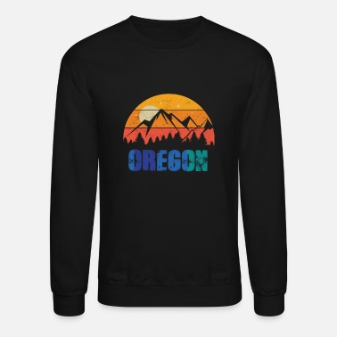 Forest Retro Vintage Oregon With Mountain And Forest - Unisex Crewneck Sweatshirt