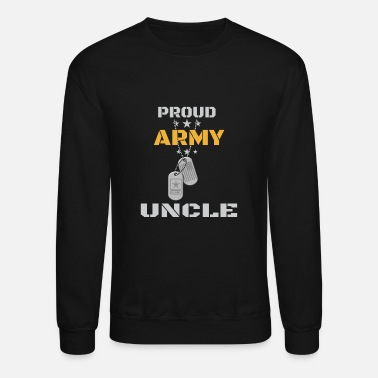 Uncle Proud Army Uncle Shirt Military Family Veterans Day Gift TShirt Mug Hoodie - Unisex Crewneck Sweatshirt