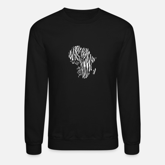 South Africa Hoodies & Sweatshirts - Wild Africa Zebra Strip Afro Safari Africa - Unisex Crewneck Sweatshirt black