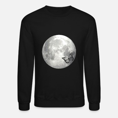 Moon full moon butterfly - Unisex Crewneck Sweatshirt