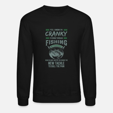 Fishing Funny Fisherman Ice Bass Fly Gone trout Fishing - Unisex Crewneck Sweatshirt