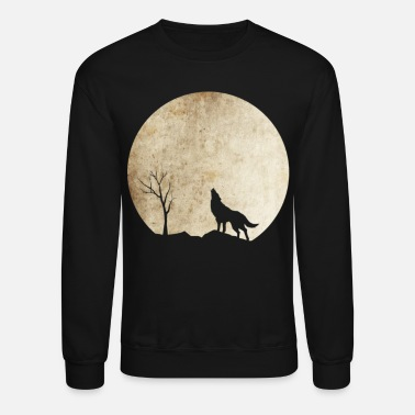 Wolves Halloween The Cool Wolf Night Shirt Limited - Crewneck Sweatshirt