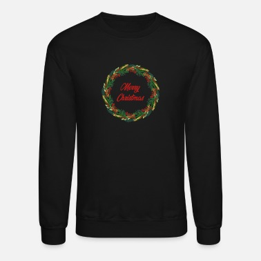 Merry Christmas Wreath - Unisex Crewneck Sweatshirt