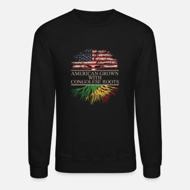 Congolese American grown with Congolese Roots - Unisex Crewneck Sweatshirt