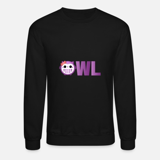 Sleep Hoodies & Sweatshirts - Owl - Unisex Crewneck Sweatshirt black
