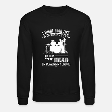 Playing I Might Look Like I Am Listening To You But - Unisex Crewneck Sweatshirt