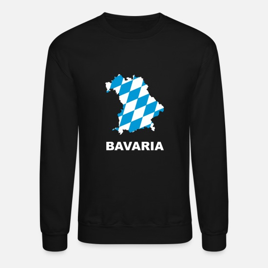 Munich Hoodies & Sweatshirts - Bavaria map - Unisex Crewneck Sweatshirt black