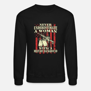 Russian Military Military - Military - a woman with a military ba - Unisex Crewneck Sweatshirt
