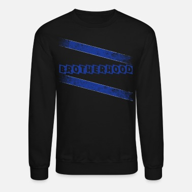 Line Police Memorial Police T Shirts Brotherhood Thin Blue Line - Crewneck Sweatshirt