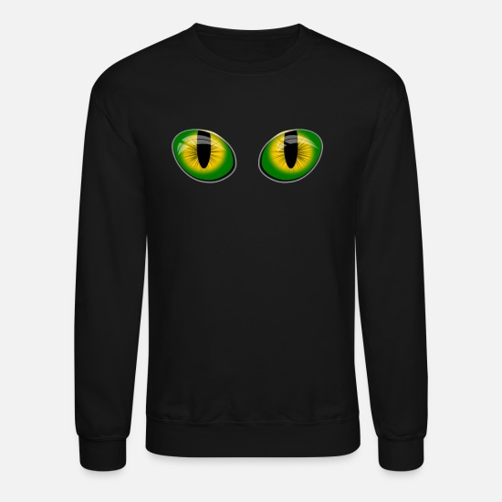 Cat Hoodies & Sweatshirts - Cat Eyes Cat Lady Gifts Cat gifts For Women - Unisex Crewneck Sweatshirt black