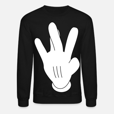 Cartoon westside mickeymouse hand - Unisex Crewneck Sweatshirt