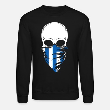 Greece Greece Skull Tshirt - Greece - Unisex Crewneck Sweatshirt