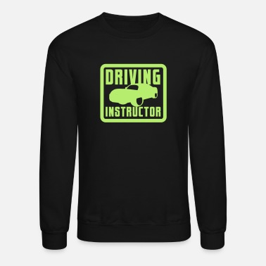 Sporty DRIVING INSTRUCTOR with high performance CAR - Unisex Crewneck Sweatshirt
