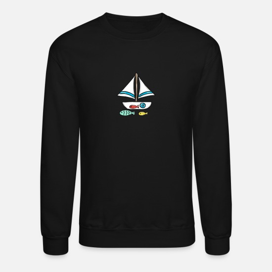 Gift Idea Hoodies & Sweatshirts - Sailing Boat - Unisex Crewneck Sweatshirt black