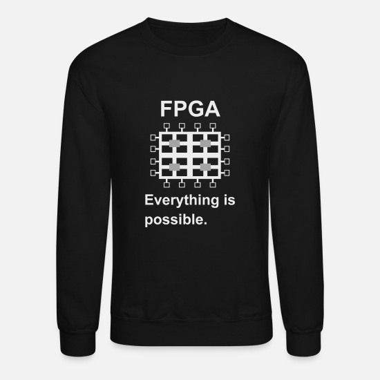Electronics Hoodies & Sweatshirts - FPGA Verilog electronic engineer developer - Unisex Crewneck Sweatshirt black