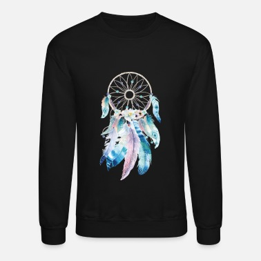 Dream Image: Watercolor, Feather dreamcatcher - Unisex Crewneck Sweatshirt