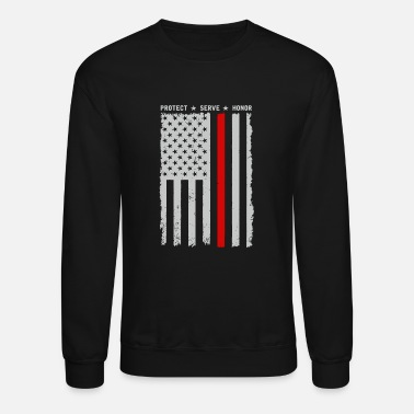 Protect Serve Honor Logo - thin red line protect serve and honor ame - Unisex Crewneck Sweatshirt