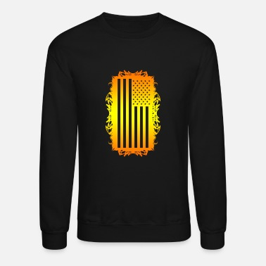 Wicked Dano US Flag - Unisex Crewneck Sweatshirt