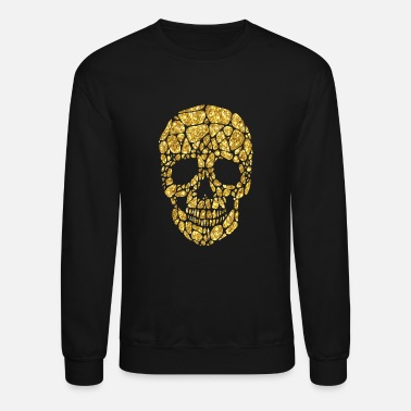 Skull Golden skull VIP cool art - Unisex Crewneck Sweatshirt