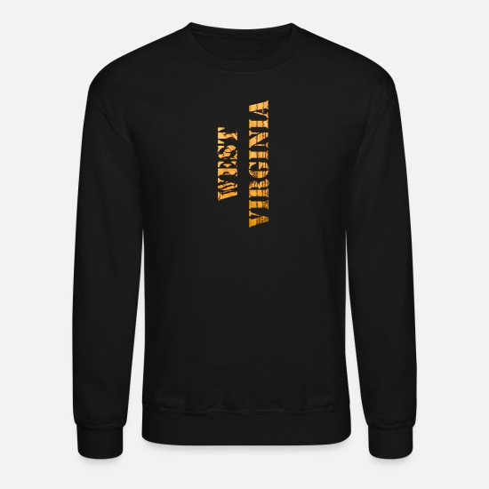 West Virginia Hoodies & Sweatshirts - West Virginia Constitution Design - Unisex Crewneck Sweatshirt black