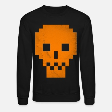 Dead Pixels Orange T shirt Cool Halloween GIft - Unisex Crewneck Sweatshirt