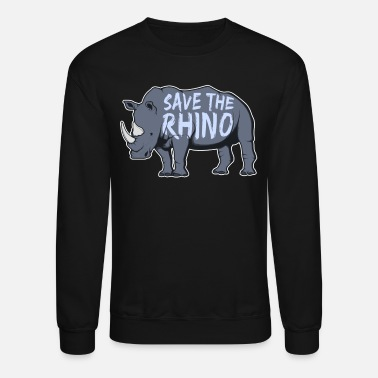 Threatend Species Rhino Threatend Species - Unisex Crewneck Sweatshirt