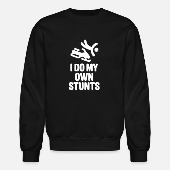 Men's Clothing Stuntman Falling Off Snowboard Hoodies Men 2018 Mens Pullover Fleece Hooded Sweatshirts I Do My Own Stunts