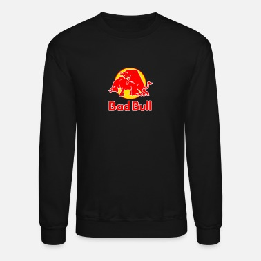 Bull Bad Bull Funny Red Bull Logo Sex Graphic Parody - Unisex Crewneck Sweatshirt