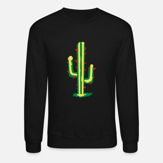 Nature Hoodies & Sweatshirts - cactus - Unisex Crewneck Sweatshirt black