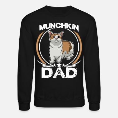 Sunglasses Munchkin Dad Shirt Fathers Day Gift Cat Love Mens - Unisex Crewneck Sweatshirt