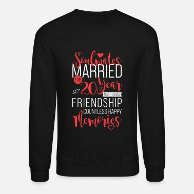 Married Soulmates Married for 20 Year Never Ending - Unisex Crewneck Sweatshirt