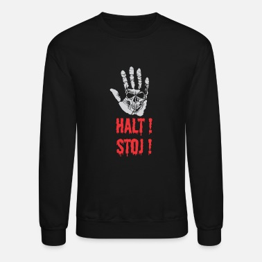 Stop Sign Stop sign in german - Crewneck Sweatshirt