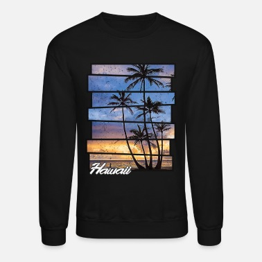 Hawaii Hawaii Beach Hawaiian Sunset Retro Photo Island - Unisex Crewneck Sweatshirt