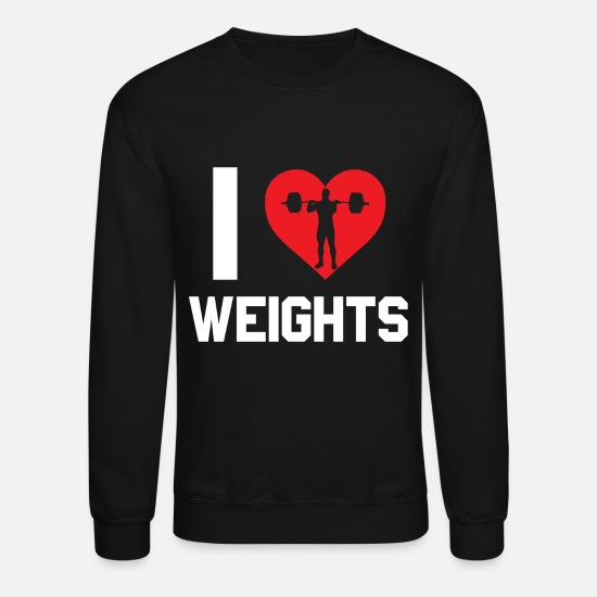 Weightlifting Hoodies & Sweatshirts - Weightlifting - Unisex Crewneck Sweatshirt black