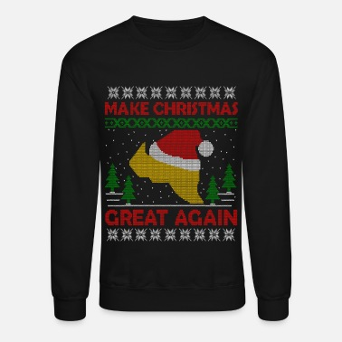 Ugly Christmas Trump Make Christmas Great Again Ugly Sweater - Unisex Crewneck Sweatshirt