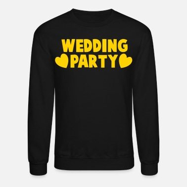 Wedding wedding party new cartoonist with love hearts - Unisex Crewneck Sweatshirt