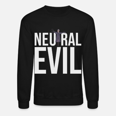 Neutral Evil - Scarecrow Graphic Text - Roleplay - Unisex Crewneck Sweatshirt