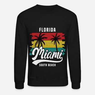 Miami Florida Miami Palm Trees beach sun holiday gift - Unisex Crewneck Sweatshirt
