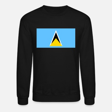 LUCIA  JERSEY GIFT SAINT LUCIA DISTRESSED FLAG UNISEX HOODIE TOP ST