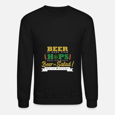 BEER IS MADE FROM HOPS PLANT SO BEER IS SALAD Mens Funny T-Shirt Joke Tee Top